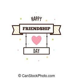 Happy Friendship Day. Vector illustration.