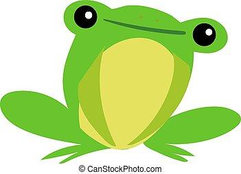 Happy frog, illustration, vector on white background.