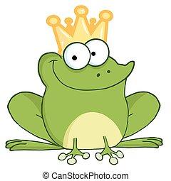 Frog Prince - Happy Frog Prince Cartoon Character