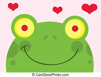 Happy Frog With Hearts