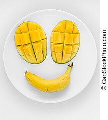 Happy fruit face