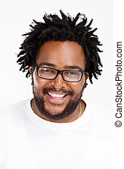 african american man headshot - happy funny african american...