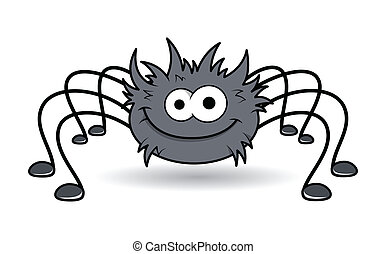Happy Funny Spider Character - Drawing Art of happy rockstar...