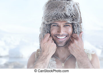 Happy fur man