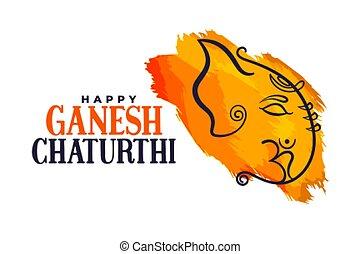 happy ganesh chaturthi indian festival poster design