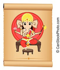 Happy Ganesh Chaturthi Vector Illustration