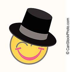 Happy Gentleman - Cartoon Smiley