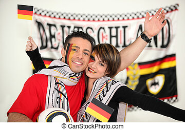 happy German football fans