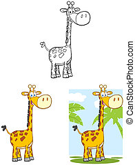 Happy Giraffe Character.Collection
