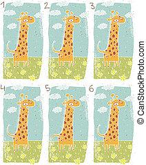Happy Giraffe Visual Game