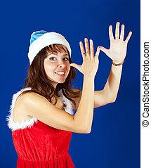 Happy girl christmas costume