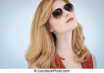 Happy Girl In Sunglasses