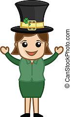 Happy Girl on St. Patrick's Day
