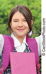 Happy Girl Student