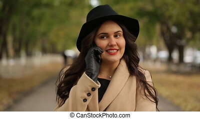 Happy girl talking on the phone