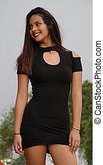 Happy Girl Wearing Dress