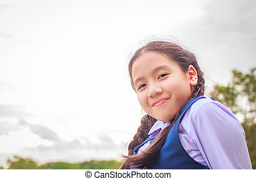 cdd723e16 Chinese school girl with ugly uniform. Fashionable chinese school ...