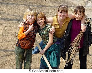 happy girls - happy school girls