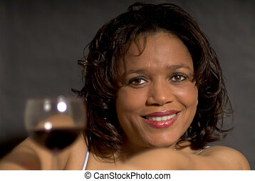 Happy glass of red