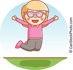 Happy glasses girl