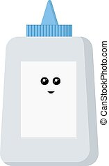 Happy glue, illustration, vector on white background.