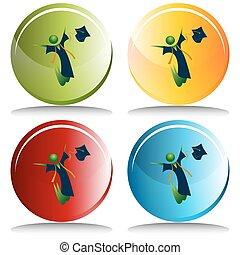 Happy Graduate Button