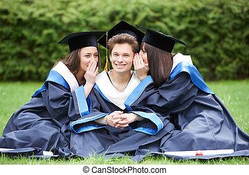 happy graduate students