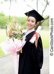 Happy graduated student girl