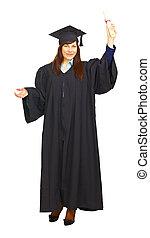 Happy graduation student isolated