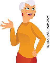 Happy grandma - happy elegant grand mother