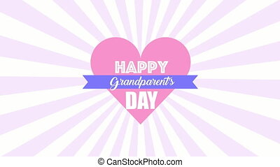 happy grandparents day card with heart love
