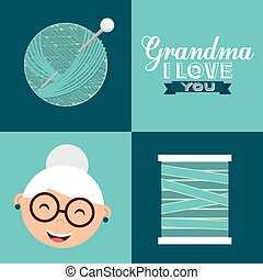 happy grandparents day design, vector illustration eps10...