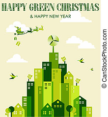 Happy green Christmas