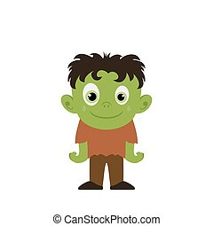 Happy Green Monster Zombie
