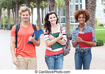 Happy group of college students