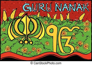 Happy Guru Nanak Jayanti background - easy to edit vector...