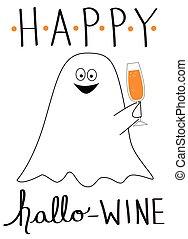 Happy Hallo Wine Ghost