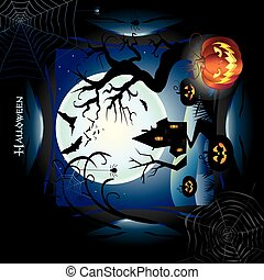 Happy Halloween Abstract frame