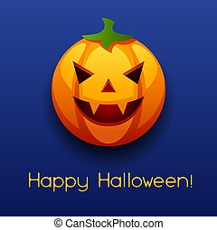 Happy Halloween angry pumpkin.