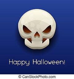 Happy Halloween angry skull.