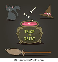 Happy Halloween background, card for your design.