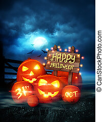 Happy Halloween Background - Happy Halloween background...