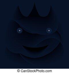 Happy Halloween background image with dark theme