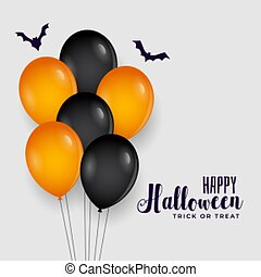 happy halloween background with balloons decoration