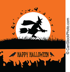 Happy Halloween Background with Spo
