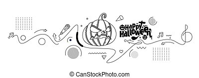 Happy Halloween banner or party invitation background, Vector illustration