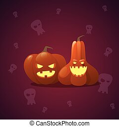 Happy Halloween Banner Pumpkin Traditional Decoration Horror Party Greeting Card