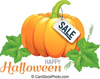 Happy Halloween beautiful pumpkin sale