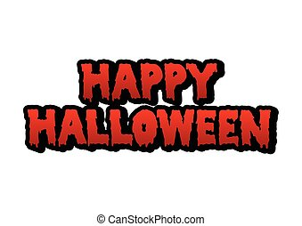 happy halloween blood text