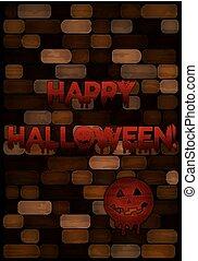 Happy halloween blood wallpaper, vector illustration